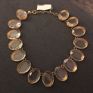 J Crew clear necklace NWT